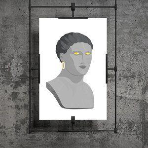 Greek Goddess with Golden Earring